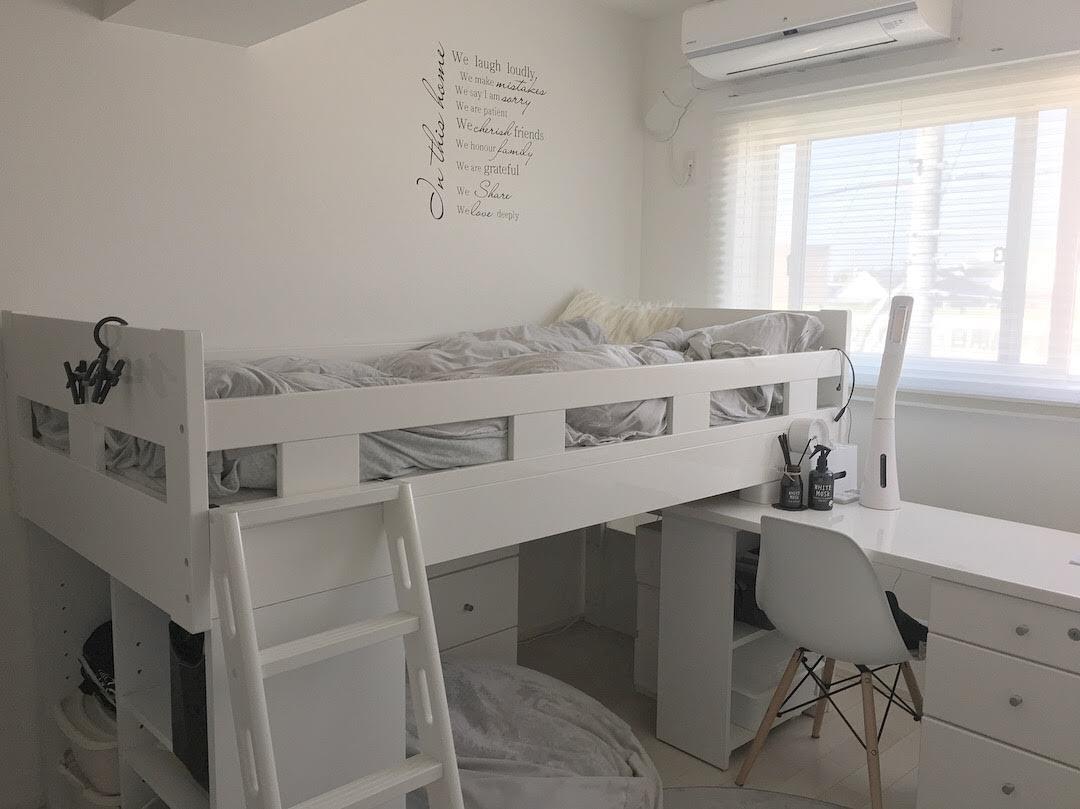 狭い子供部屋*失敗したシステムベッド選びから学んだ・部屋に合った家具選び