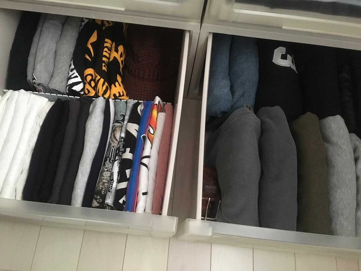 タンスの中の衣類を簡単にキレイにできる整理整頓・収納法・大公開!