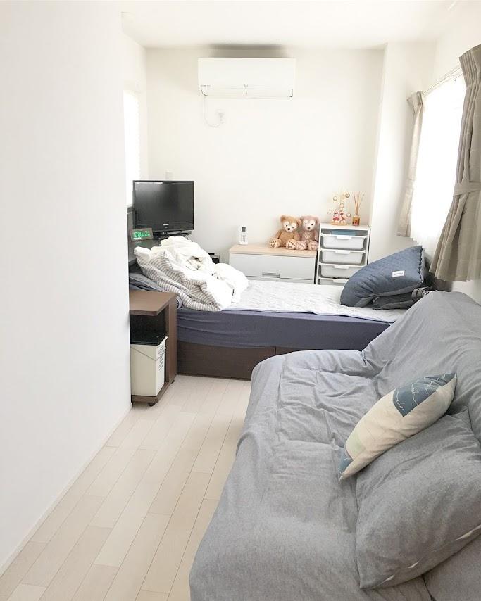 《web内覧会》~寝室編~縦長で窓の多い狭い部屋に選ぶおすすめのベッド