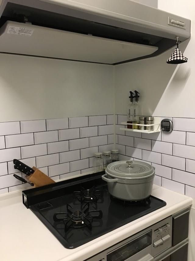 《キッチン》貼って剥がせるハッテミー!簡単にできるリメイクシート!