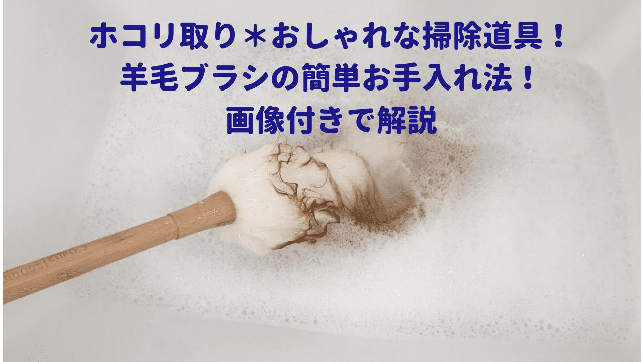 ホコリ取り*羊毛ブラシの簡単お手入れ法!画像付きで解説!