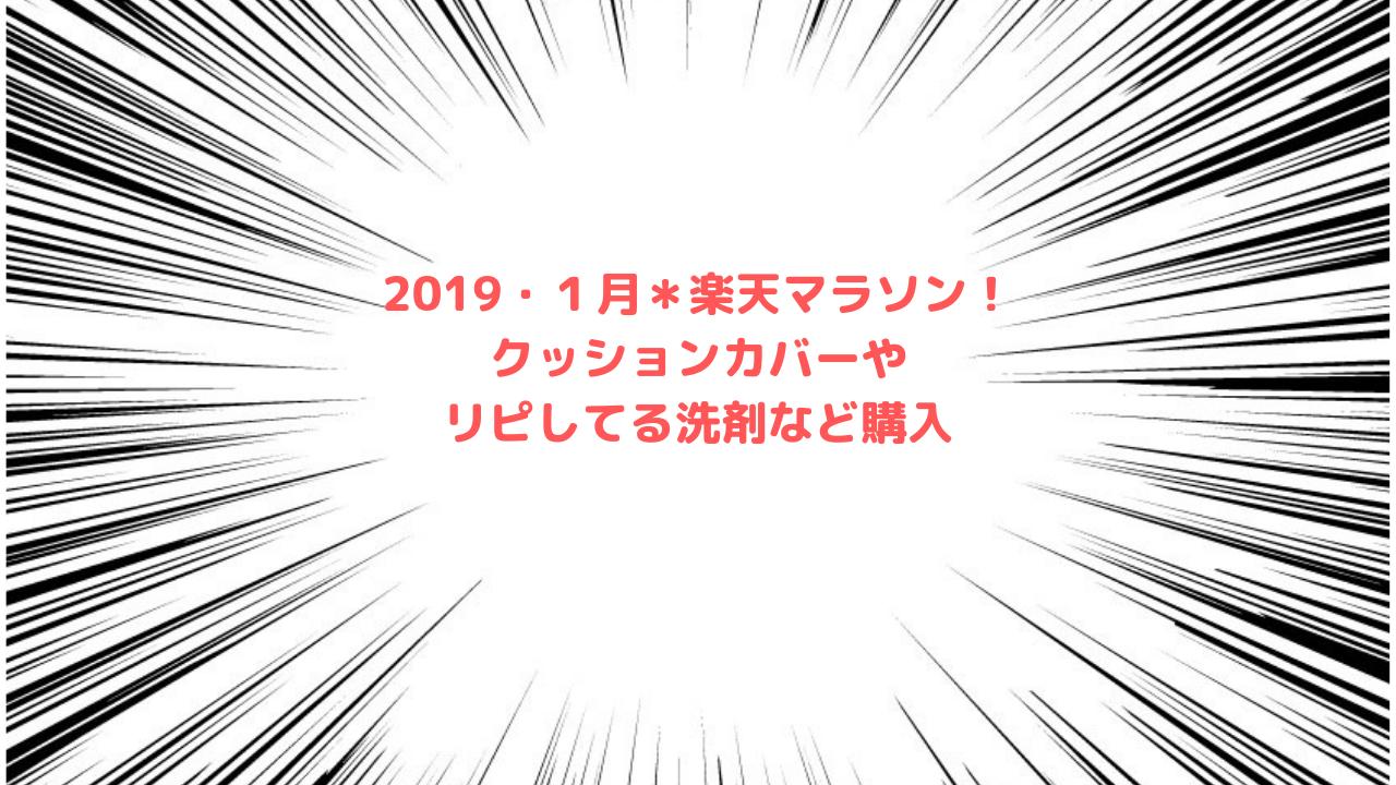 2019・1月*楽天マラソン!クッションカバーやリピしてる洗剤など購入